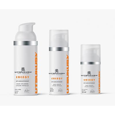 Energy Set - Gesichtscreme, Serum, Augencreme - Gesichtspflege für den Mann von Utsukusy Cosmetics